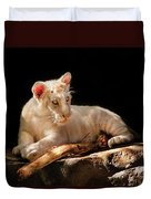 Animal - Cat - A Baby Snow Tiger Duvet Cover