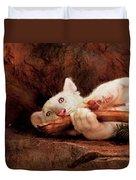 Animal - Cat - My Chew Toy Duvet Cover