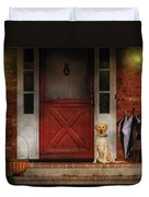 Animal - Dog - Waiting For My Master Duvet Cover