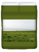Animals Grazing In A Field Along The Cliffs Of Moher Duvet Cover