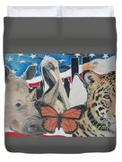 Animals Of Freedom  Duvet Cover
