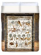 Animals Past And Present Duvet Cover