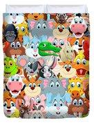 Animals Zoo Duvet Cover