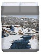 Animas River In January Duvet Cover