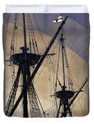 Animated Masts Duvet Cover