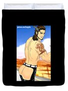 Anime Muscle Guys Boys Yaoi Male Characters Gay Art Gladiolus Duvet Cover