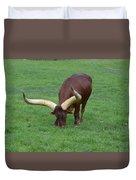 Ankole Cattle Eating Duvet Cover