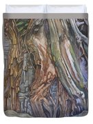 Ankor Temple Trees  Duvet Cover