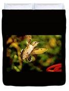 Anna Hummingbird  In Flight 1 Duvet Cover