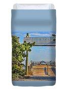 Anna Maria City Pier Landmark Duvet Cover