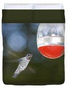 Annas Hummingbird Calypte Anna Duvet Cover