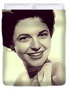 Anne Bancroft, Vintage Actress Duvet Cover