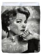 Anne Baxter Vintage Hollywood Actress Duvet Cover
