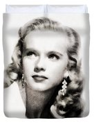 Anne Francis, Vintage Actress By John Springfield Duvet Cover