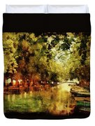 Annecy France Pont Des Amours Duvet Cover