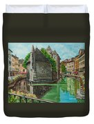 Annecy-the Venice Of France Duvet Cover
