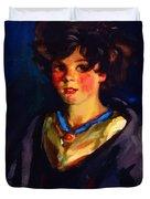 Annie Geg 1925 Duvet Cover