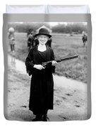 Annie Oakley, American Folk Hero Duvet Cover