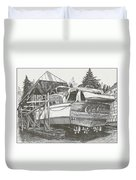 Annual Haul Out Chris Craft Yacht Duvet Cover