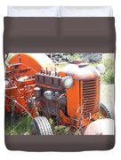 Another Angle Of Old Tractor Duvet Cover