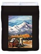 Another Colorado Barn Duvet Cover