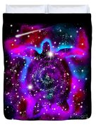 Another Cosmic Sea Turtle Duvet Cover