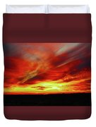 Another Illinois Sunset Duvet Cover