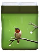 Another Rainy Day Hummingbird Duvet Cover