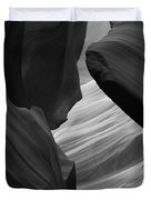 Antelope Canyon Erosions Bw Duvet Cover