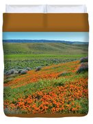 Antelope Valley Poppy Reserve Duvet Cover