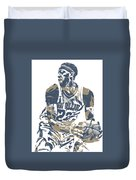 Anthony Davis New Orleans Pelicans Pixel Art 21 Duvet Cover