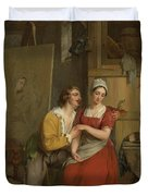 Anthony Van Dyck Wooing His Model, 1827 Duvet Cover