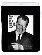 Anti-nixon Poster, 1960 - To License For Professional Use Visit Granger.com Duvet Cover