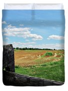 Antietam Farm Fence 2 Duvet Cover