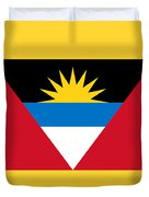 Antigua And Barbuda Flag Duvet Cover
