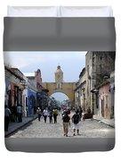 Antigua Street Scene Duvet Cover