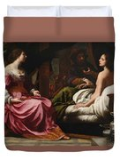 Antiochus Prince Of Syria And Stratonice His Stepmother Duvet Cover