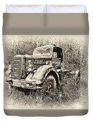 Antique 1947 Mack Truck Duvet Cover