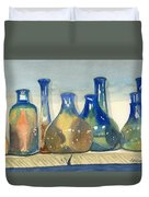 Antique Bottles Duvet Cover