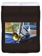 Antique Brass Car Horn Duvet Cover
