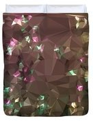 Antique Bronze Abstract Low Polygon Background Duvet Cover
