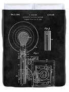 Antique Camera Flash Patent Duvet Cover