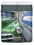 Antique Car And Mural 2 Duvet Cover