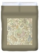 Antique Celestial Map Duvet Cover
