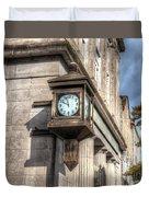 Antique Clock  Edenton North Carolina Duvet Cover