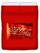 Antique Coca-cola Cooler Duvet Cover