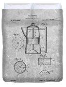 Antique Coffee Percolator Patent Duvet Cover