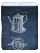 Antique Coffee Pot Patent Duvet Cover