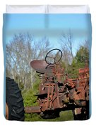 Antique Farmall Tractor 4a Duvet Cover