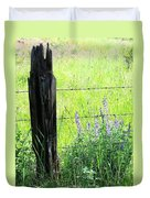 Antique Fence Post Duvet Cover